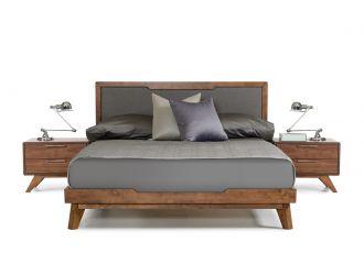 Nova Domus Soria Mid-Century Grey & Walnut Bed