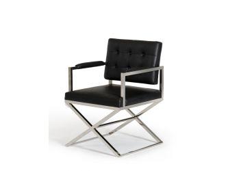 Modrest Spielberg Modern Black Leatherette Dining Chair