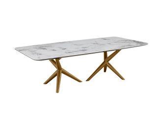 Modrest Stetson - Mid Century Walnut + Ceramic Coffee Table