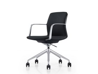 Modrest Sundar - Modern White Mid Back Conference Office Chair