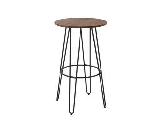 Modrest Gelson Modern Round Bamboo Top Bar Table