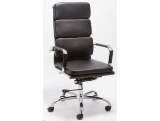 Modrest John Modern Black High Back Office Chair