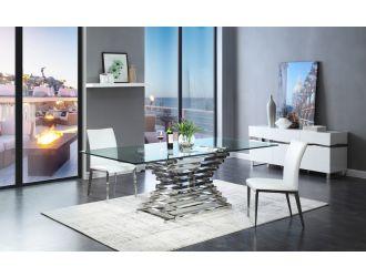 Modrest Crawford Modern Rectangular Glass Dining Table