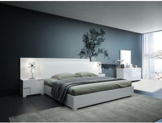 Modrest Monza Italian Modern White Bed