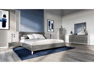 Nova Domus Bronx Italian Modern Faux Concrete & Grey Bedroom Set