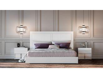 Modrest Nicla Italian Modern White Bed