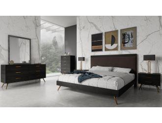 Nova Domus Tabitha Modern Dark Brown Recycled Pine Bed