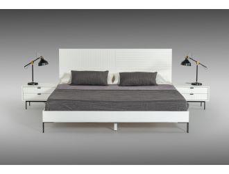 Nova Domus Valencia Contemporary White Bed
