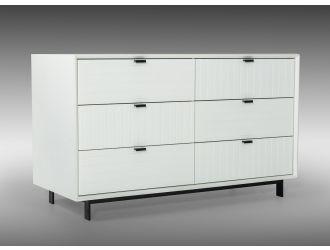 Nova Domus Valencia Contemporary White Dresser