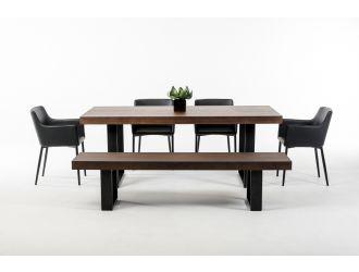 Lola Modern Wenge Walnut Dining Table