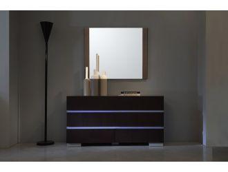 Anzio Modern Brown Oak Wall Mirror