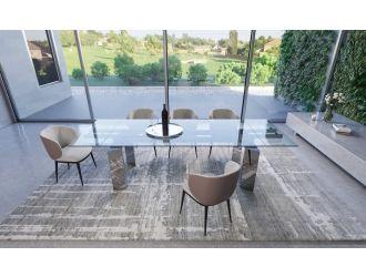 Modrest Viking - Modern Extendable Glass Dining Table