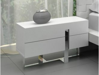 Voco Modern White Bedroom Nightstand