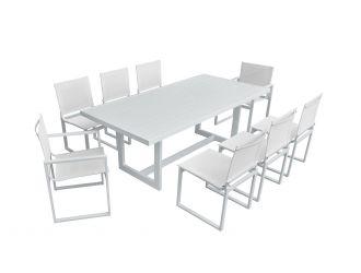 Renava Wake - Modern White Outdoor Dining Table
