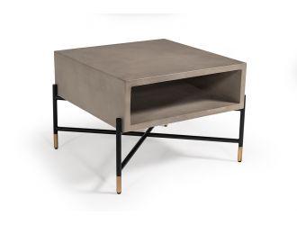 Modrest Walker Modern Concrete & Metal Coffee Table