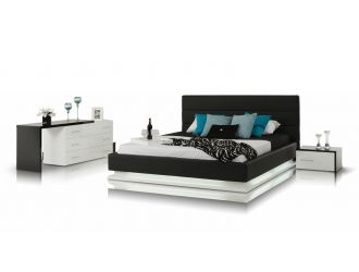 Modrest Infinity - Contemporary Black & White Bedroom Set