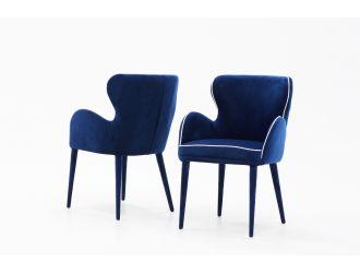 Modrest Tigard Mid-Century Blue Fabric Dining Chair