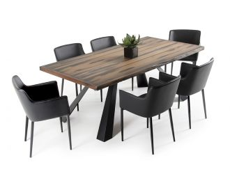 Modrest Norse Modern Ship Wood Dining Table