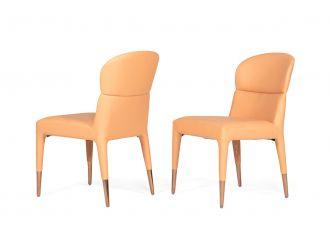 Modrest Ogden - Modern Peach & Rosegold Dining Chair (Set of 2)
