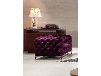 Divani Casa Delilah Modern Purple Fabric Chair