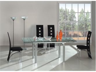 O 306 Modern glass dining table