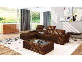 Divani Casa 5105B Modern Brown Bonded Leather Sectional Sofa
