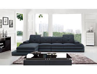 Divani Casa 5132 Modern Fabric & Bonded Leather Sectional Sofa