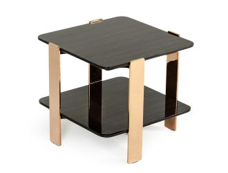Modrest Leroy Modern Ebony & Rosegold End Table