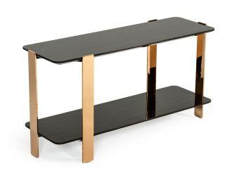 Modrest Leroy Modern Ebony & Rosegold Console Table