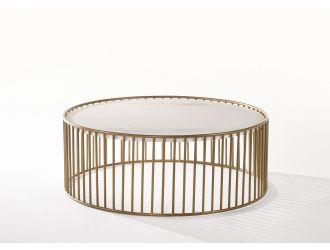 Modrest Eleanor - Modern Round Marble Coffee Table
