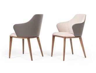 Modrest Megan Modern Beige & Grey Dining Chair