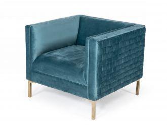 Divani Casa Atwood - Modern Teal Arm Chair
