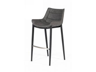 Modrest Robert - Modern Grey Eco-Leather Bar Stool (Set of 2)