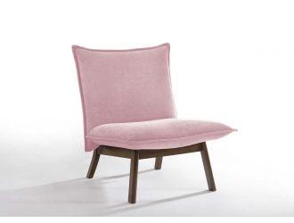 Modrest Gardner - Modern Pink Accent Chair