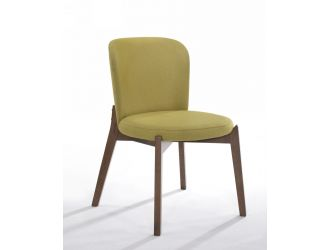 Modrest Boyce - Yellow & Walnut Dining Chair (Set of 2)