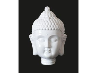 Modrest Modern White Buddha Head Sculpture