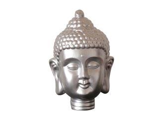 Modrest Modern Silver Buddha Head Sculpture