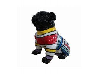 Modrest Modern Black & Colorful Sweater Pug Sculpture