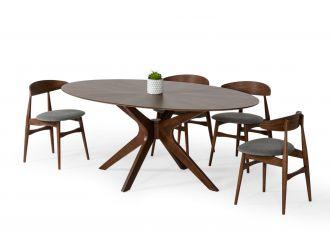 Modrest Prospect - Modern Oval Walnut Dining Table