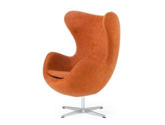 Modrest Lenmar - Modern Rust Fabric Accent Chair