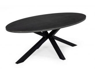 Modrest Raygor - Black Acacia Oval Dining Table