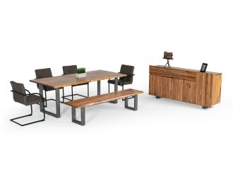 Modrest Secota - Live Edge Acacia Wood Dining Table