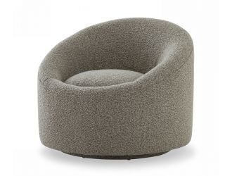 Modrest Frontier - Glam Grey Fabric Accent Chair
