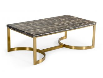 Modrest Greely - Glam Black and Gold Marble Coffee Table