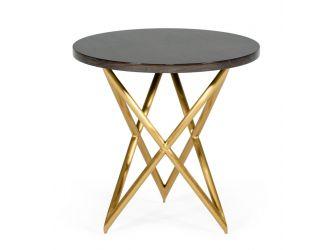 Modrest Novia - Glam Black and Gold Marble End Table