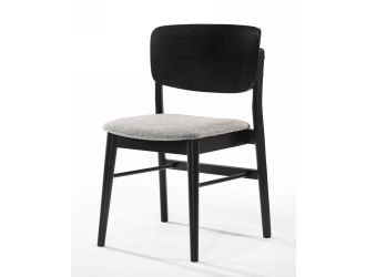 Modrest Addax - Modern Black and Grey Fabric Dining Chair- Set of 2