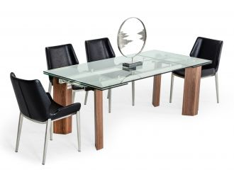 Modrest Helena -  Modern Extendable Glass Dining Table - Large