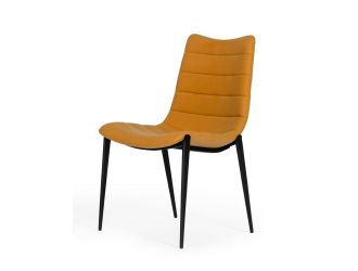 Modrest Hubbell - Industrial Tan Eco-Leather Dining Chair (Set of 2)