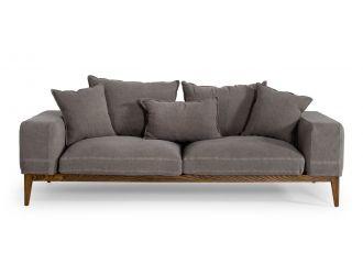 Divani Casa Corina - Modern Grey Fabric Sofa