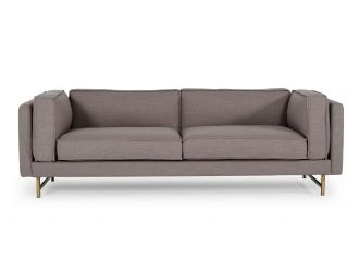 Divani Casa Keswick - Modern Grey Fabric Sofa